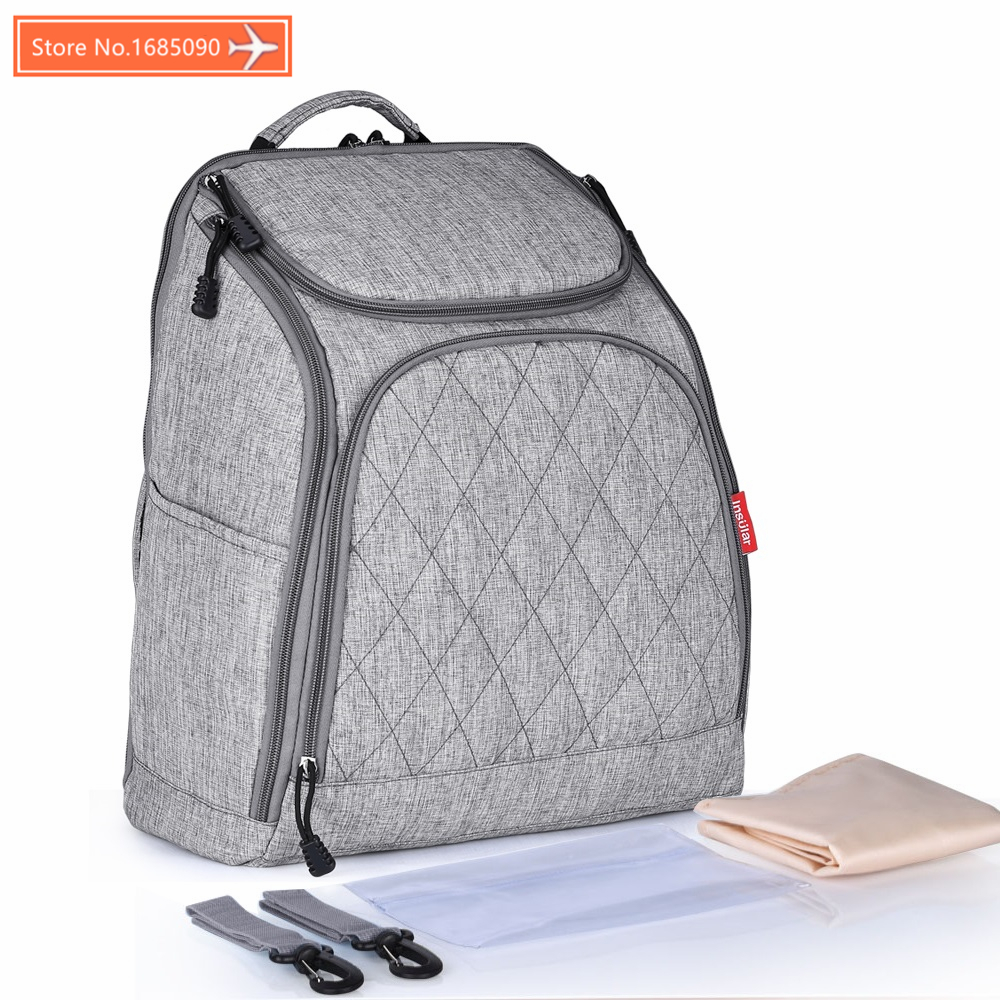 INSULAR Baby Bag Fashion mummy Bags Large Diaper Bag Backpack Baby Organizer Maternity Bags For Mother Handbag Nappy 10036