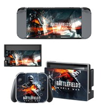 Game Battlefield 5 Decal Vinyl Skin Sticker for Nintendo Switch NS Console + Controller + Stand Holder Protective Film