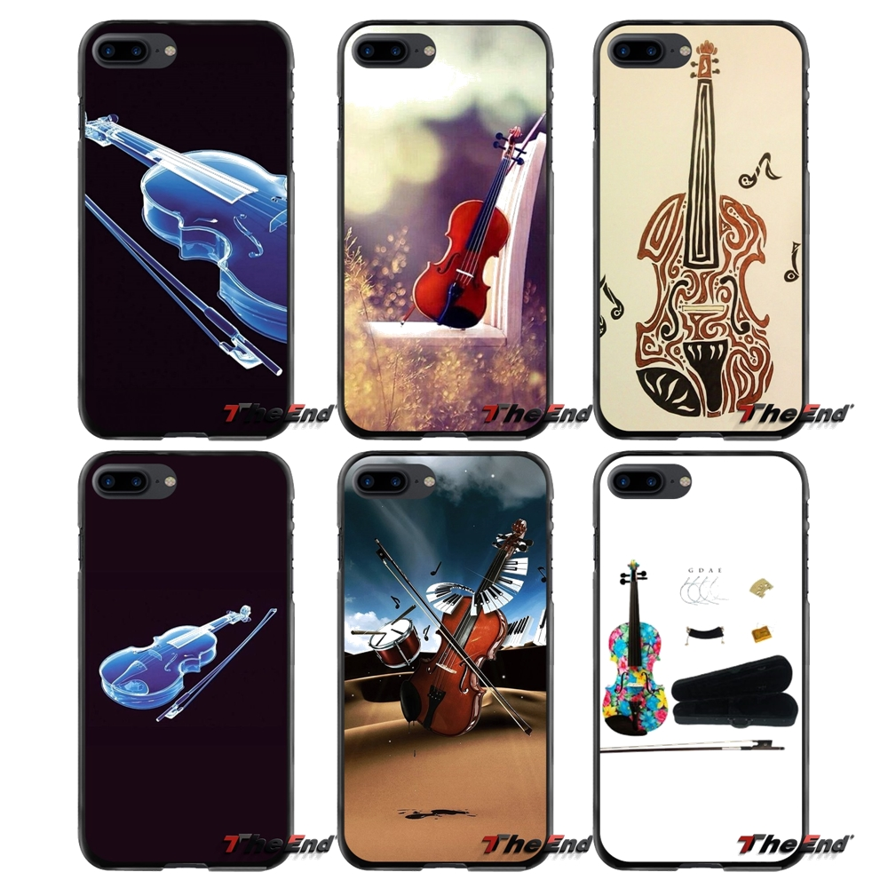 For Apple iPhone 4 4S 5 5S 5C SE 6 6S 7 8 Plus X iPod Touch 4 5 6 cool music violin Accessories Phone Cases Covers