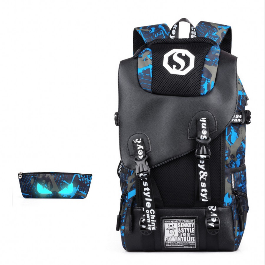 Men Backpack Waterproof Male Female Bag Set College Bags Travel Backpack High School Bags for Boys Girls
