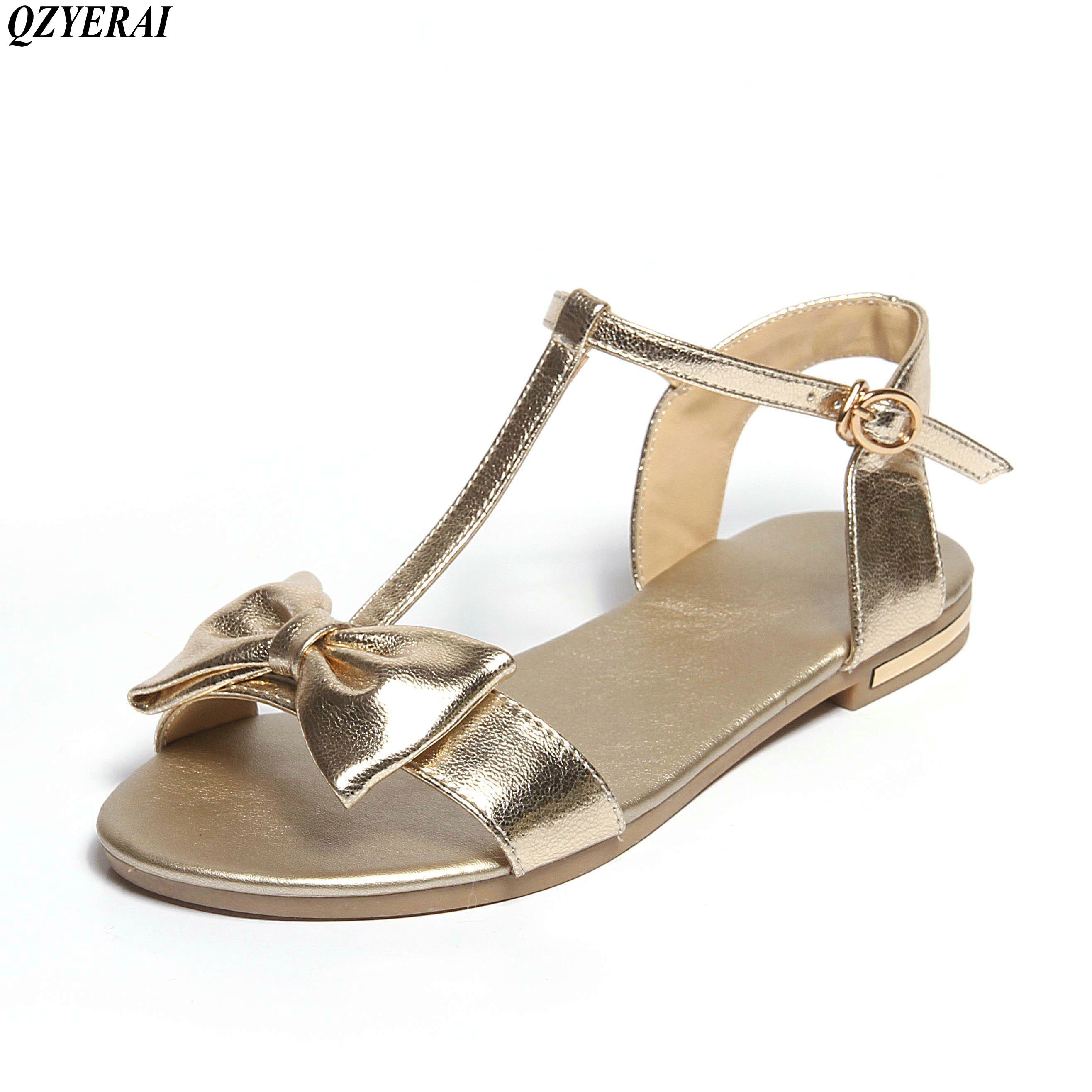 QZYERAI 2018 new style summer womens sandals 100% cowhide comfortable wear-resisting cow bar womens shoes sandals sizes 34-43