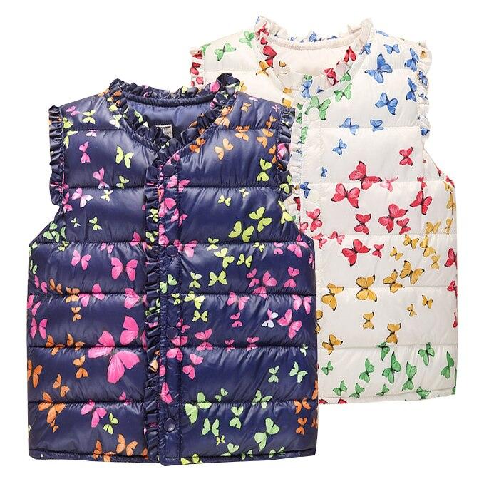 6-Style Autunno & Inverno Dolce Dei Bambini Floreali delle Ragazze Giacche di Cotone Capretti Caldi Della Maglia Per La Ragazza Panciotto Bambini Capispalla Abbigliamento