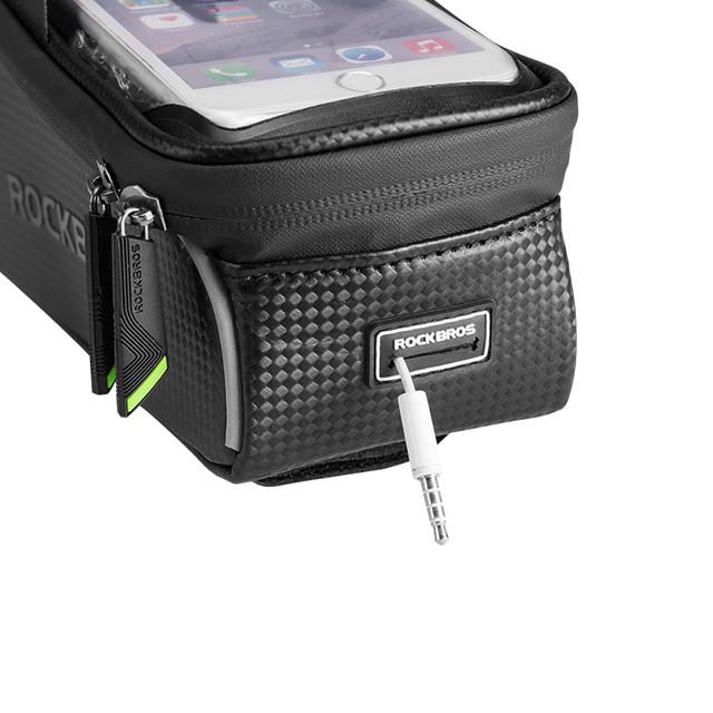 6″ Waterproof Bicycle Top Tube Headset Touchscreen Phone Case Bag
