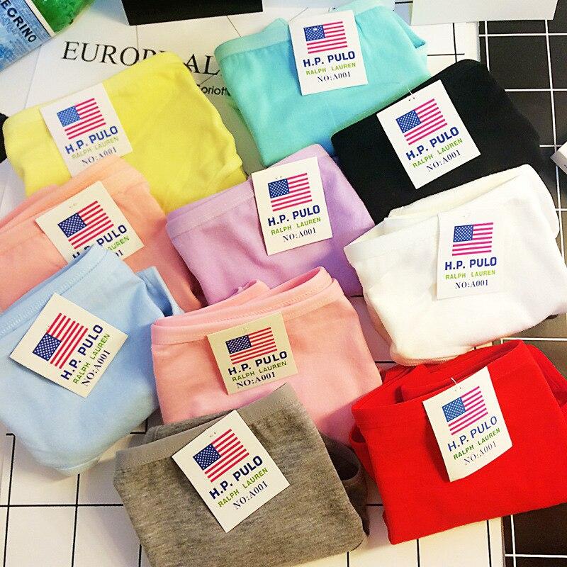 Foreign Trade Original Single Cotton Cotton Sports Simple Casual Waist Women Triangle Briefs Ropa Interior Femenina L41 Z41