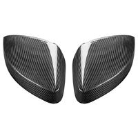 Black Color Carbon Wing Mirror Cover Caps Rear Side View Replacement For AUDI A3 S3 RS3