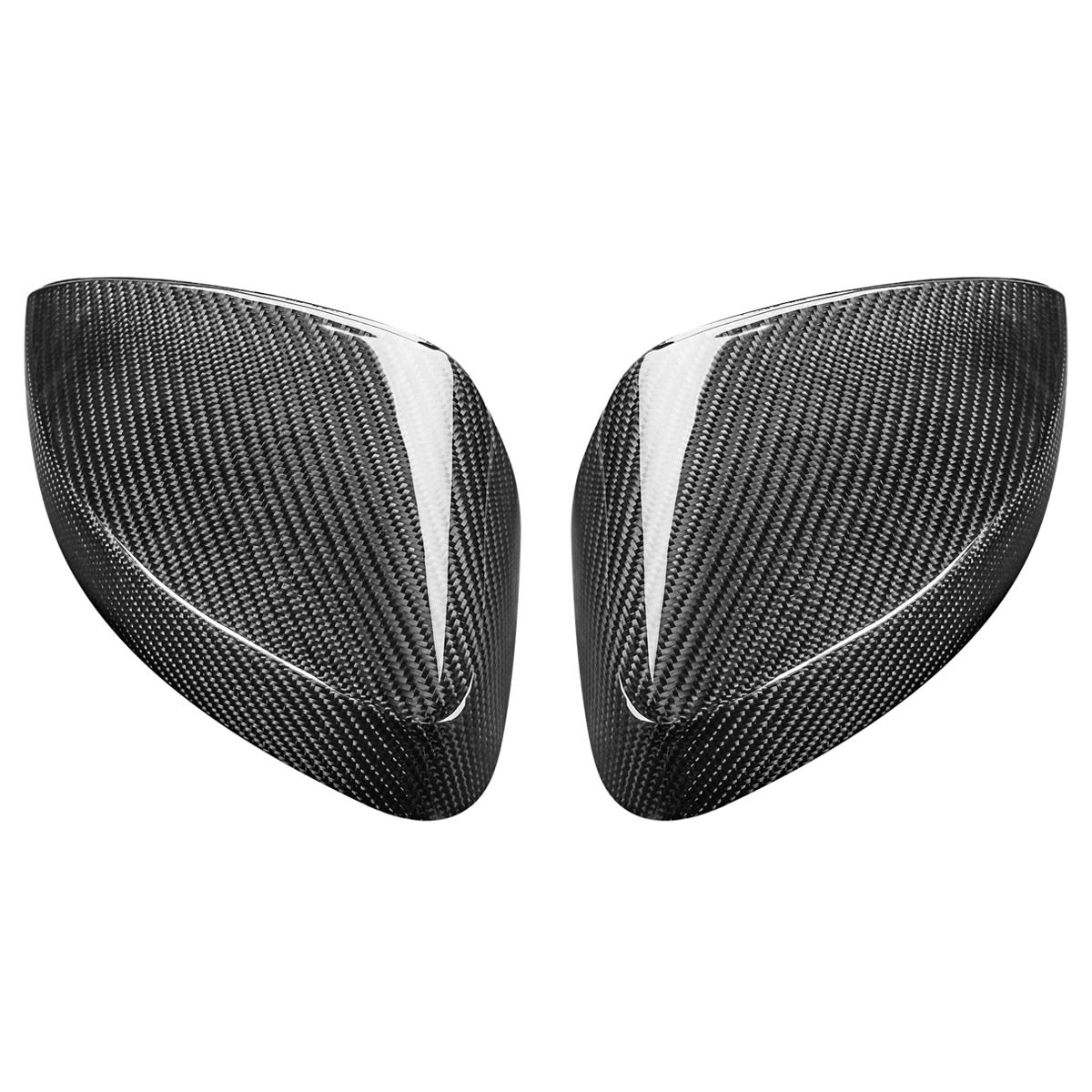 Black Color Carbon Wing Mirror Cover Caps Rear Side View Replacement For AUDI A3 S3 RS3 2013-2017 Exterior Parts