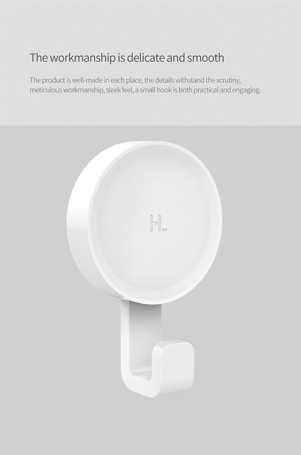 Xiaomi Mijia Little Adhesive Hooks Strong Bathroom Bedroom Kitchen Wall Hooks 3kg Max Load up new arrival in Stock (5)