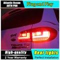 Car Styling LED Lámpara De Cola para VW Tiguan LED Luces Traseras de la Luz Trasera 2009-2012 DRL + Señal de Giro + Accesorios de freno + auto Reverse led l