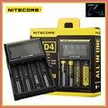 Оригинал Nitecore D4 Digicharger Универсальное Зарядное Зарядное Устройство 18650 ЖК-Дисплей Зарядное Устройство для AA AAA Литий-ионные Аккумуляторы