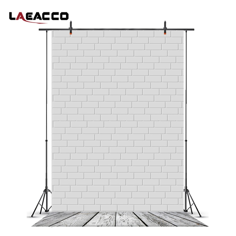 Laeacco Brick Wall Wooden Floor Newborn Baby Photography Backgrounds Vinyl Custom Camera Photographic Backdrops For Photo Studio wooden floor and brick wall photography backdrops computer printing thin vinyl background for photo studio s 1120