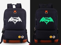 New Film Batman v Superman: Dawn of Justice BVS cosplay Backpack Anime Luminous Student Schoolbags Unisex Canvas Travel Bags