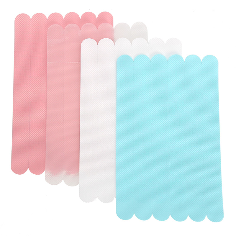 6Pcs Anti-Slip Bath Grip Stickers Non-Slip Flooring Safety Bath Tub Shower Strips Tape Mat Applique Bathroom Accessories