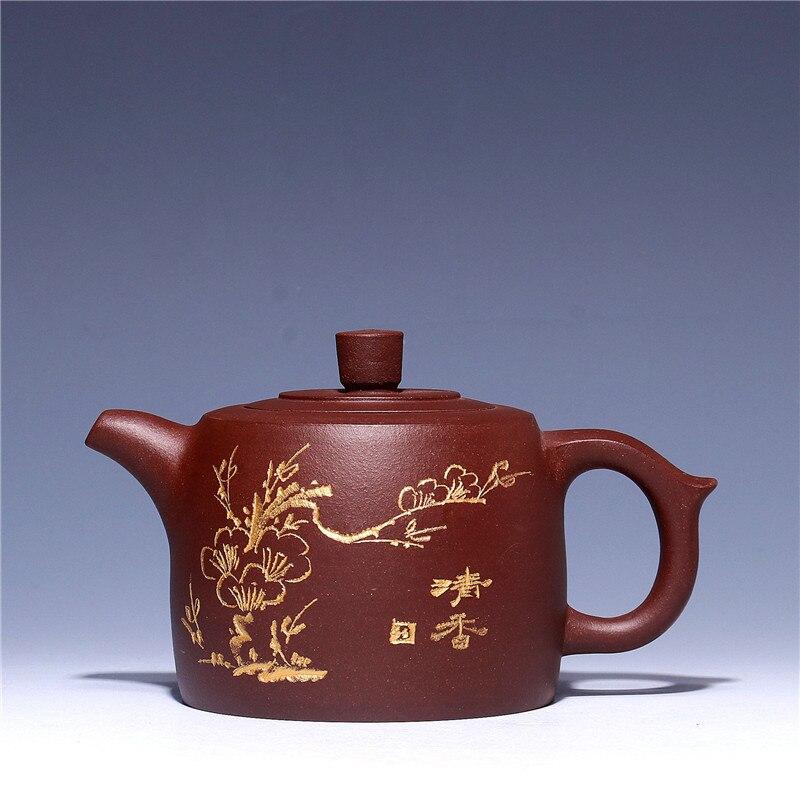 Chinese Authentic Yixing Purple Clay Teapot Health Kung Fu Tea Set Handmade Ceramics Zisha Plum Blossom