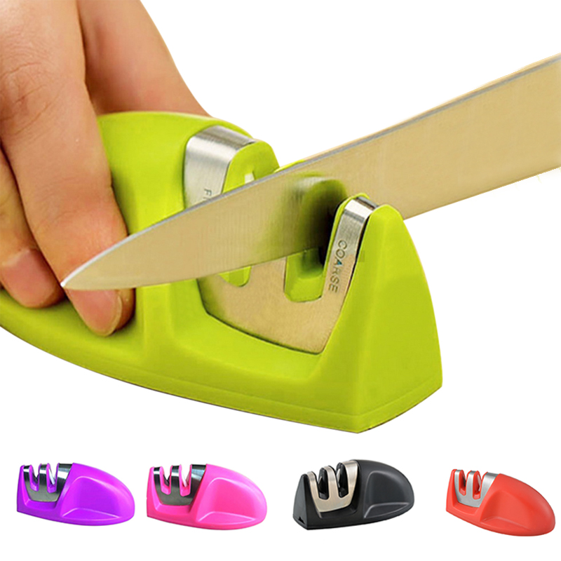 Urijk 1PC Kitchen Accessories Mini Knife Sharpener Two Stages (Diamond & Ceramic) Sharpening Tools Household Knife Sharpener