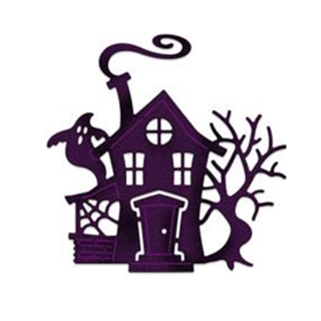 haunted house horror halloween stencil embossing craft steel die rh aliexpress com