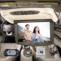 BigBigRoad For mercedes benz glk Car Roof Mounted in car LED Digital Screen Support HDMI USB FM TV Game IR Remote Flip Down DVD