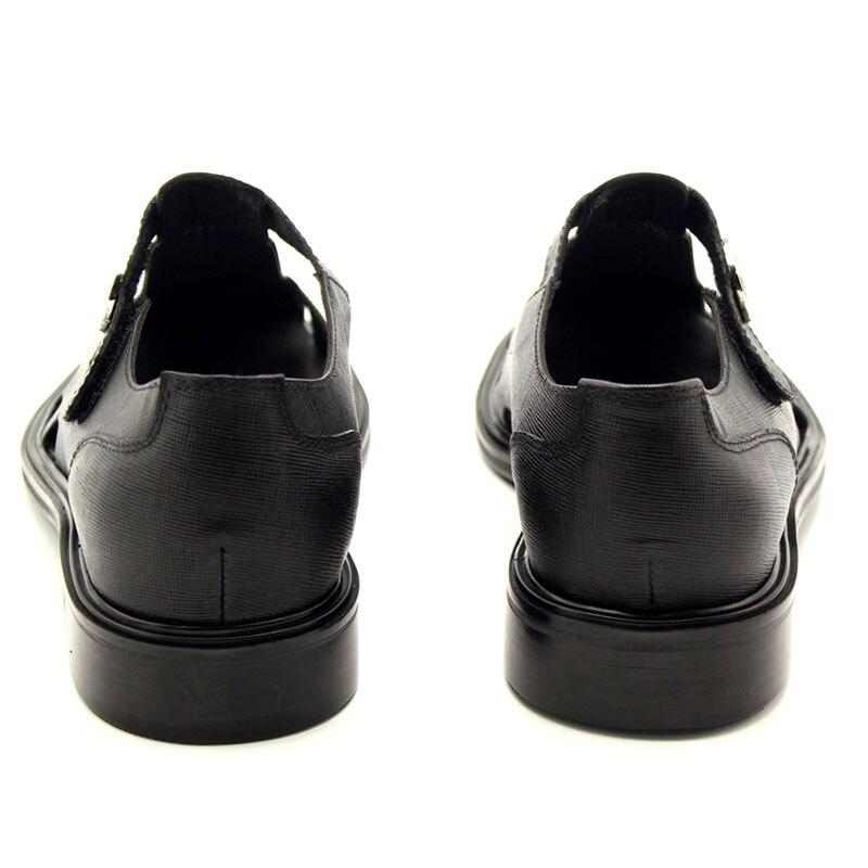 Verão Da Bloco T De Qualidade Estilo As Sandálias Runway Fora Homens Photo Para 2019 Vestido Fivela Novos Sapatos Genuíno Superior Salto Couro Retro O Oco Xq7zz8