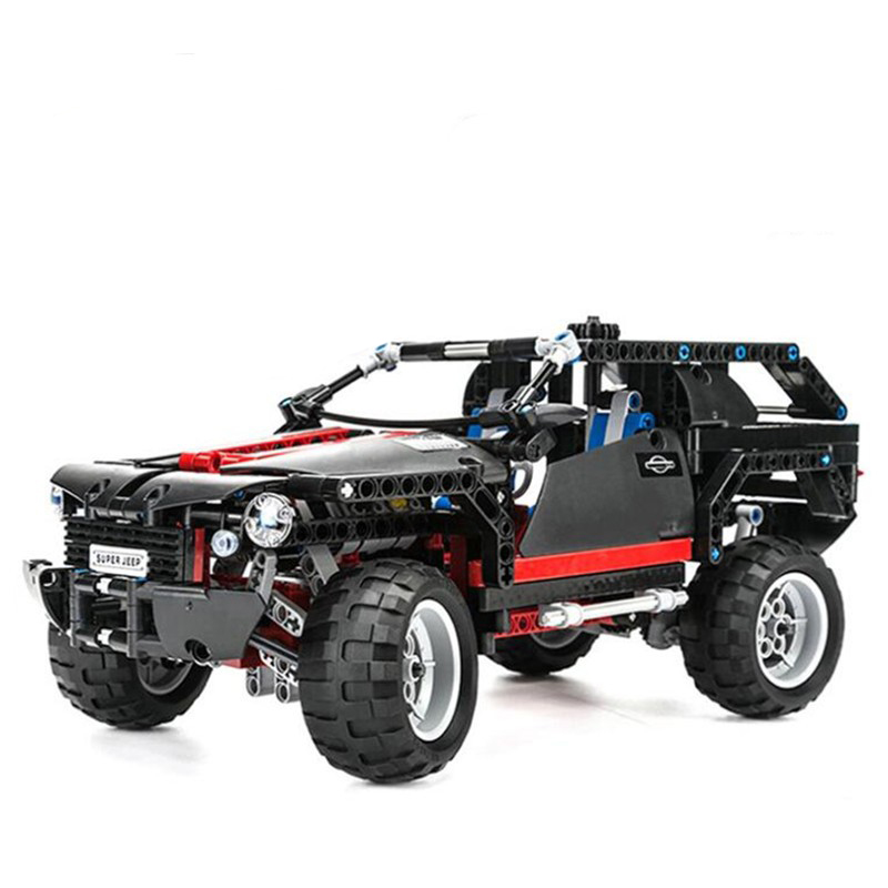 POP King Steerer Transport Cruiser SUV Technic Truck Model Building Blocks Racing Car Bricks Toys For Children Compatible Lepin arrivals 1 36kg