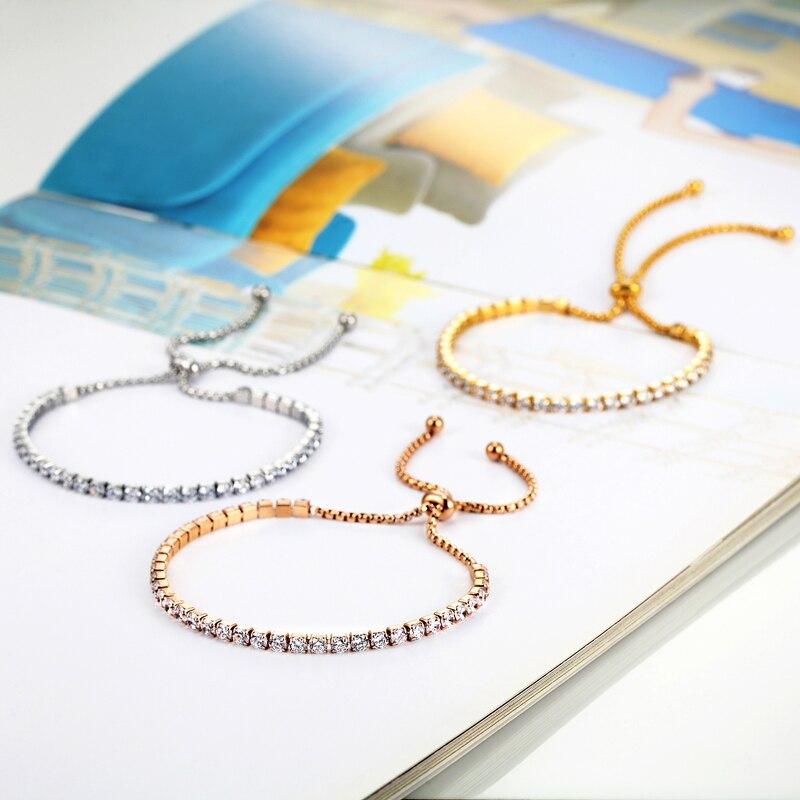 Design clasic Dimensiune reglabilă Femeie frumoasă Crystal - Bijuterii de moda - Fotografie 3