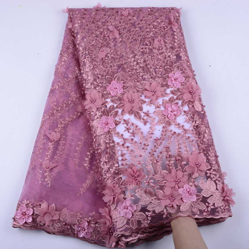 african onion 3d flowers sewing lace fabric french tulle laces fabrics lovely design for african nigerian