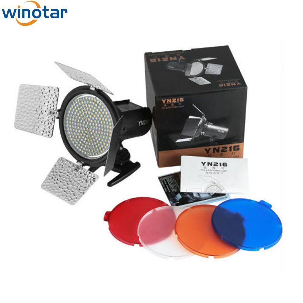 YONGNUO YN216 3200K-5500K LED Video Light Camera Shoot for Canon Nikon Pentax Olympus DSLR Camcorder DV цена и фото