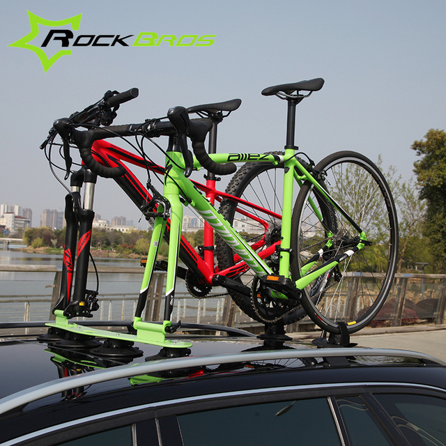 Rockbros Treefrog Sustion Cup Roof Rack For Two Bike Jeep