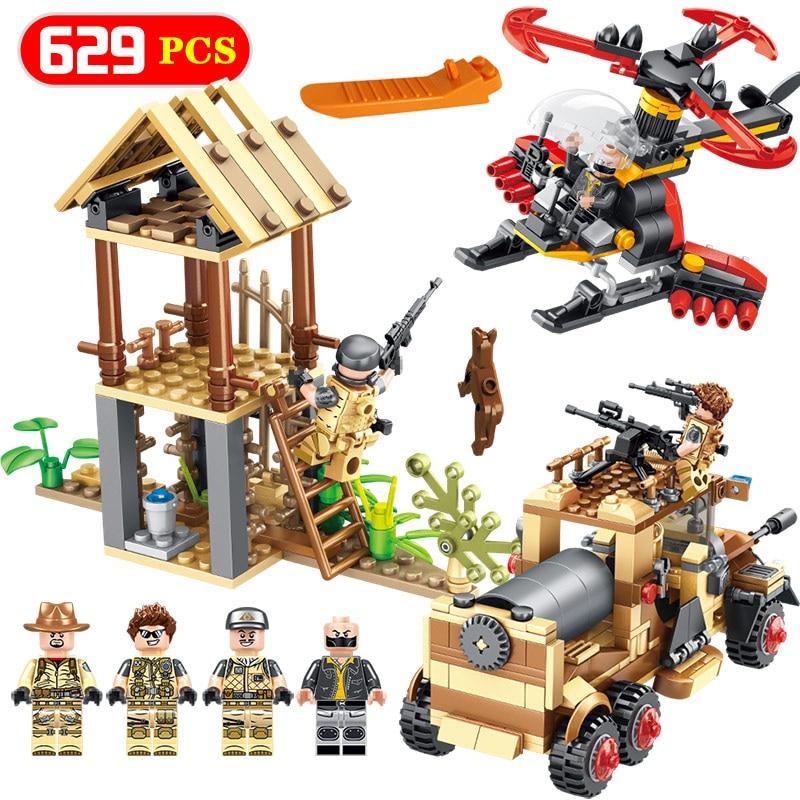 Military Special Troops series Guard tank truck Compatible LegoINGLYS Technic weapon Model 106 Pcs Bricks Building Blocks Toys