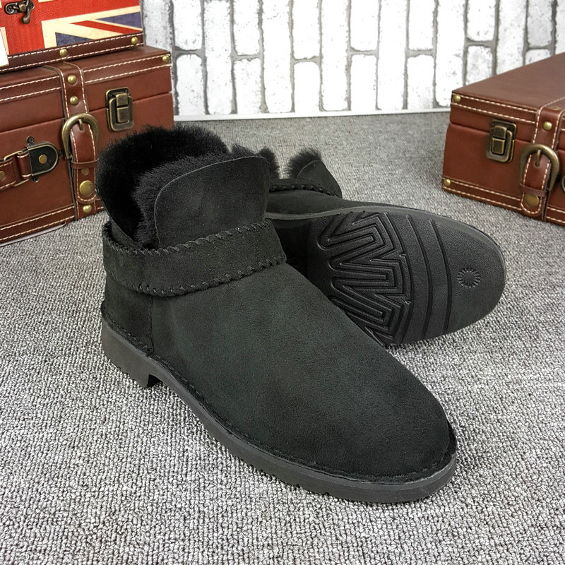 The official website synchronization fur new snow boots female short tube flat bottom warm leisure short boots 1012358