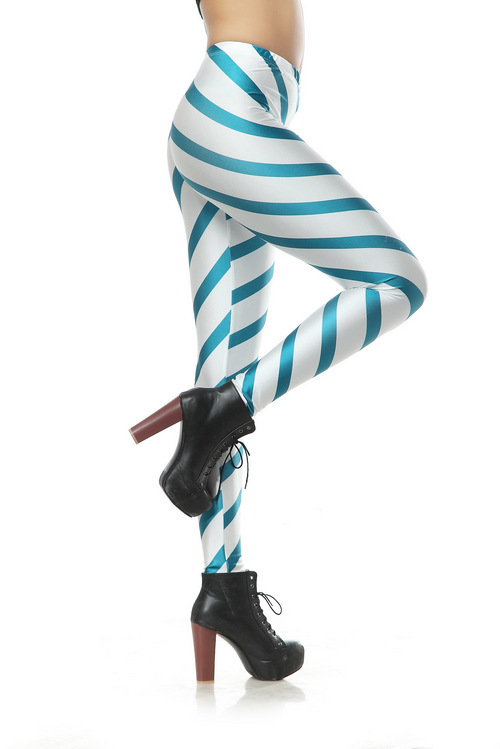 Free Shipping Candy Striped Leggings Spandex American Apparel ...