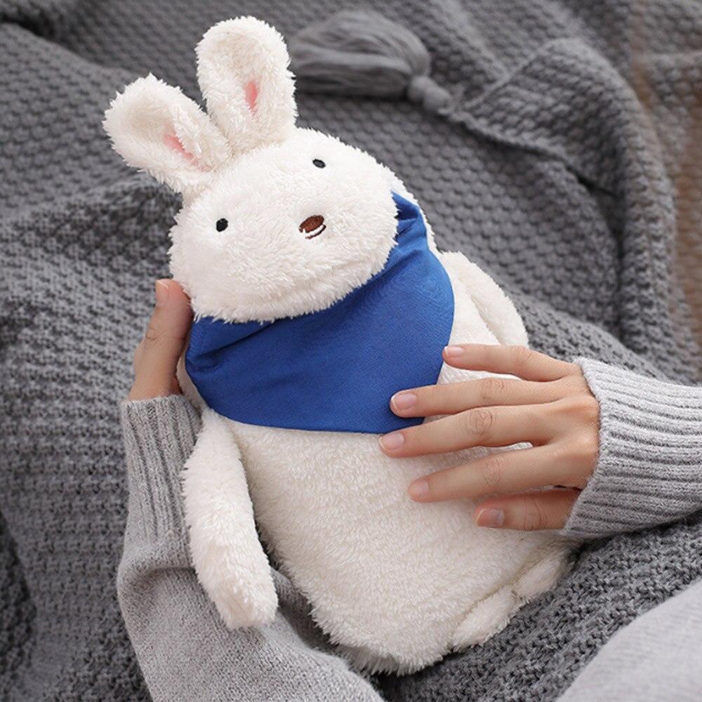 Грелка для рук теплая водонепроницаемая сумка прочная ворсовая теплая Подарочная компресс с солью кролика - Цвет: 2
