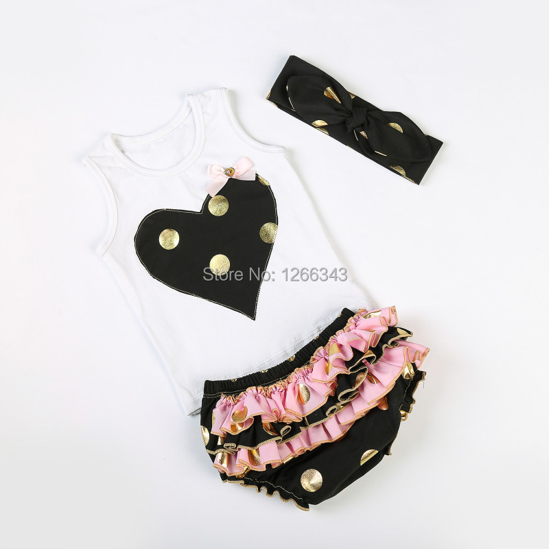 05e7bad888ee Peach Girls Clothing Gold Polka Dots Baby Girls Bloomer Set Tank Top  Bloomer Set Matching Knot Headband Peach Toddler Outfit-in Clothing Sets  from Mother ...