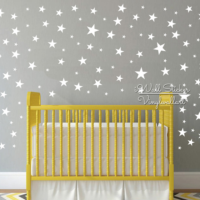 Cute Star Wall Sticker Baby Nursery Stars Wall Decal DIY Easy Wall Decors  Kids Room Children Cut Vinyl Stickers P44