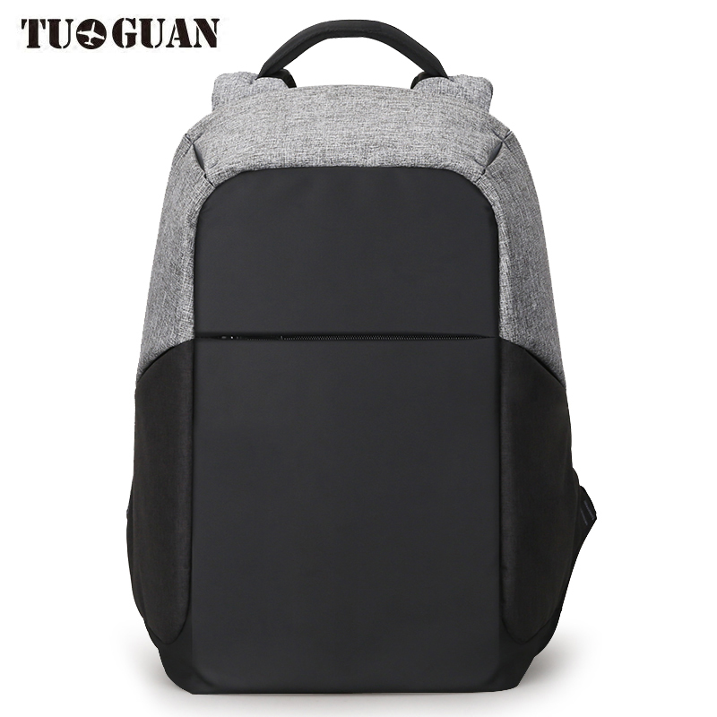TUGUAN Men Waterproof Backpack Anti Theft USB Charging Back Pack Schoolbag Business Laptop Computer Bags for Male Multifunction tuguan notebook bag external usb anti theft charging waterproof laptop backpack for men and women business travel computer bag