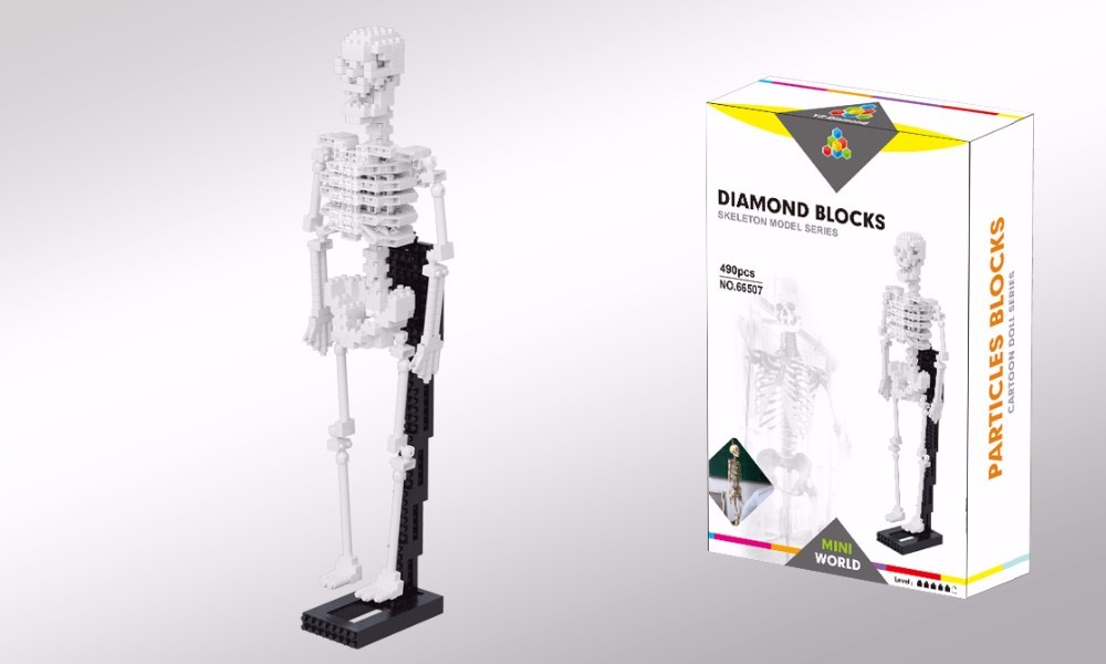 YZ Diamond Blocks Dinosaur Bones skeleton Model 66507