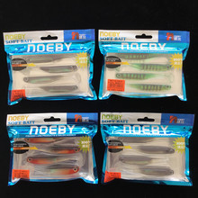 Noeby 16pcs/lot 10cm 5g soft baits fishing lures soft lure jig wobbler rubber lure fishing worms silicone baits bass lure feeder