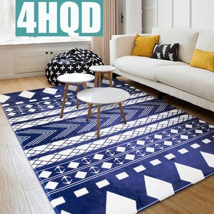 Simple bedroom full floor carpet living room Nordic coffee table sofa large carpet bedroom bedside blanket