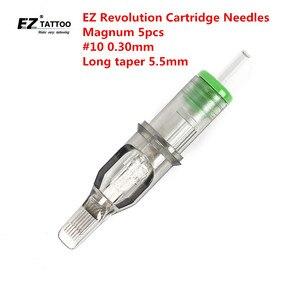 Image 1 - EZ Revolution Cartridge Tattoo Needles Magnum #10 0.30mm Long  Taper 5.5mm for Cartridge Machine and Grips 5pcs/lot