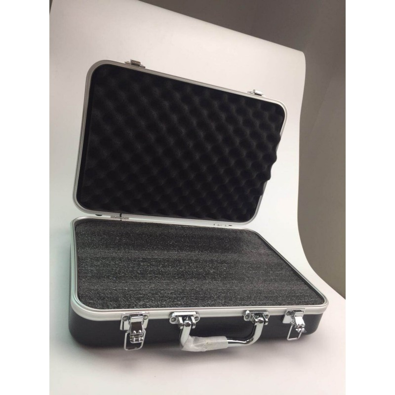 Plastic Aluminum Alloy Tool Box Sponge Lining Instrument Box Portable Multi-function Impact Resistant Safety Storage Box