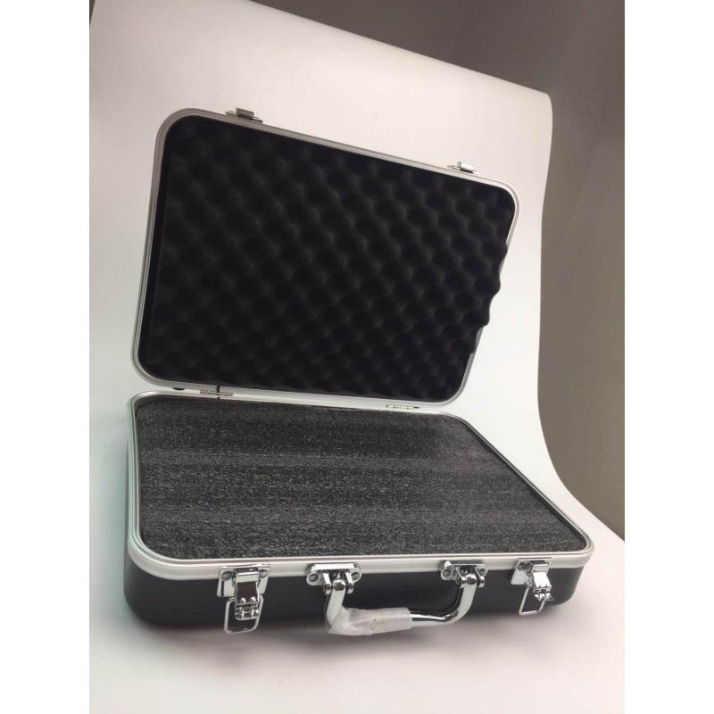 Plastic Aluminum Alloy Tool Box Sponge Lining Instrument Box Portable Multi-function Impact Resistant Safety Storage Box