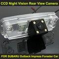 CCD ночного видения с 4 СВЕТОДИОДНЫЕ лампы Автомобилей Заднего Вида Камера Заднего вида ДЛЯ SUBARU Forester Outback Impreza Автомобиля