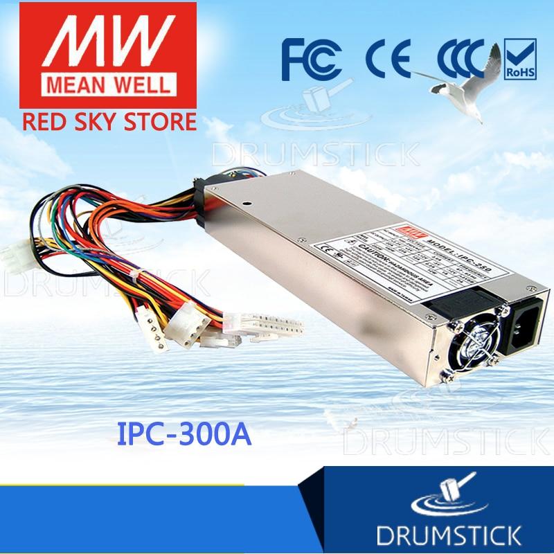 Hot sale MEAN WELL IPC-300A meanwell IPC-300A 300W Industrial 1U ATX 12V/P4 PC Power Supply industrial equipments board ipc 6113lp4 rev b3 pci 4 isa 9 interface