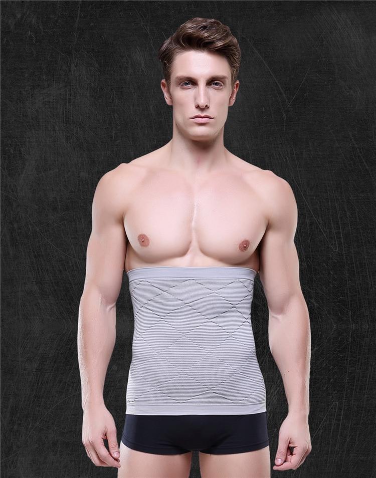 Men Body Black Healthy Thin Slimming Belt waist Abdomen Shaper Burn Fat Lose Weight Waist Shapers