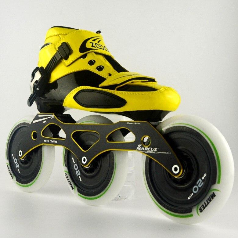 ZODOR powerslide inline skates Glasvezel Professionele Concurrentie Skates Wielen 3*125mm