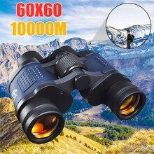 Jumelles longue portée à Vision nocturne, dispositif optique binoculaire, haute clarté, 60x60, 1 10000M, optique Lll, haute puissance pour la chasse, le plein air, Zoom fixe
