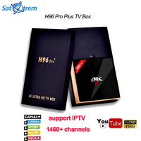H96 PRO Plus Android 7.1 TV Box Amlogic S912 + 1 Jaar Europa IPTV Server voor Franse Duitsland Italië Arabisch Sport Kanalen IP TV doos