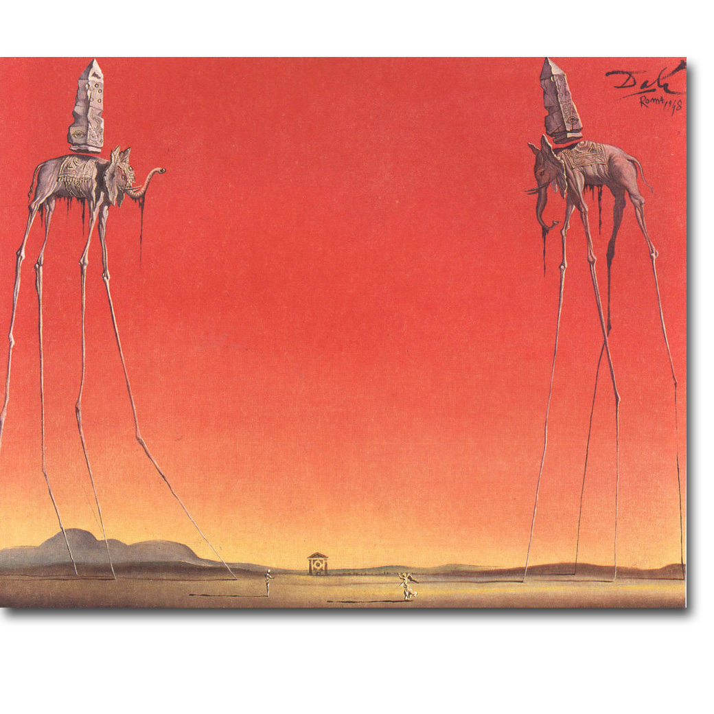 The Elephants Salvador Dali Artwork Art Silk Poster Print