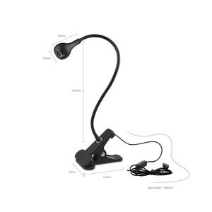 Image 2 - 5V USB power LED Desk lamp Flexible study Reading Book lights Eye Protect Table lamp With Clip for home bedroom study lighting