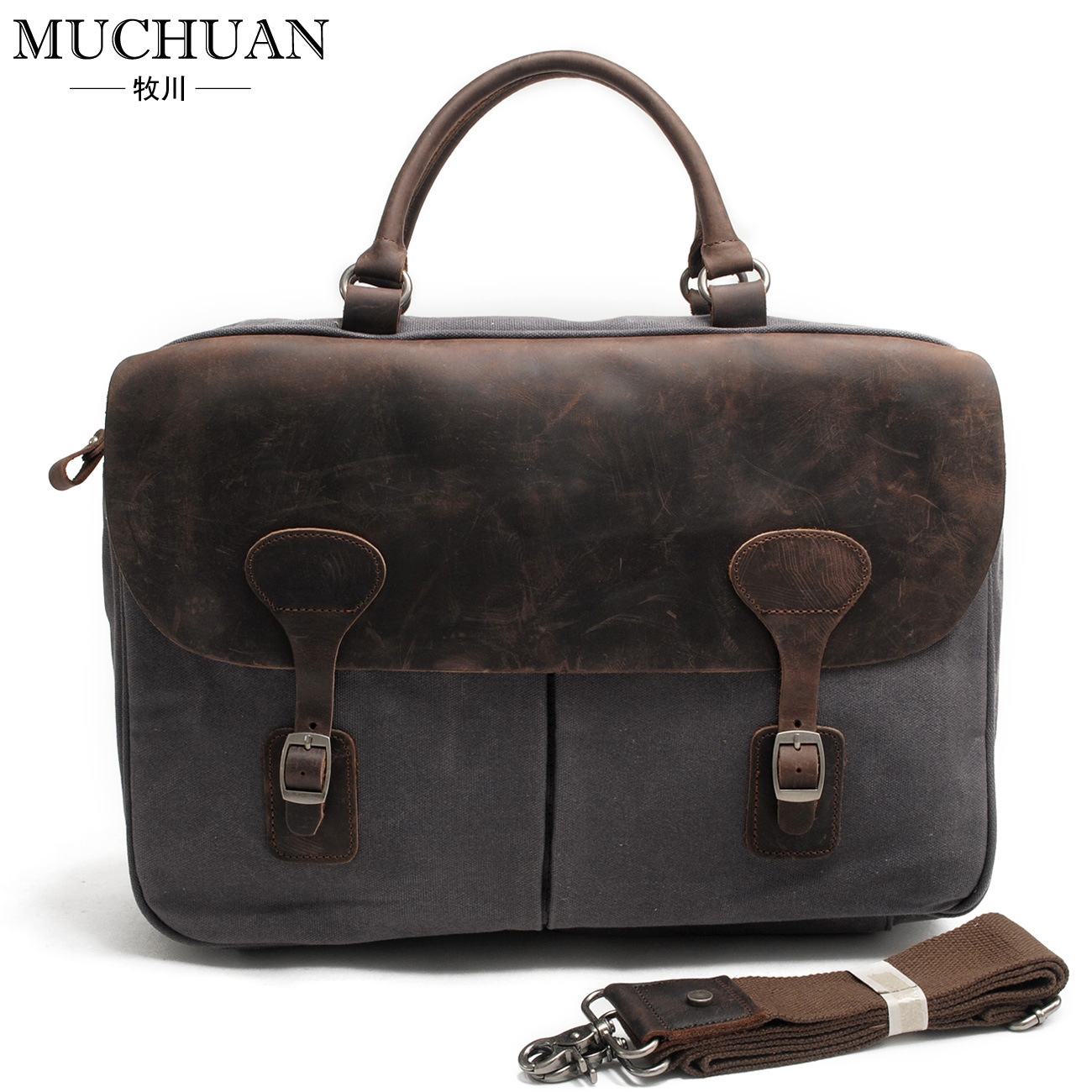ФОТО Muchuan canvas oil wax canvas bag in Europe and America to restore ancient ways male bag shoulder slope, laptop bag briefcase
