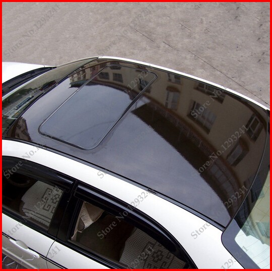 Carcardo 1.35 mx 2 m brillant film de lucarne de voiture avec sans bulle noir toit de voiture vinyle film autocollants autocollants de protection de voiture