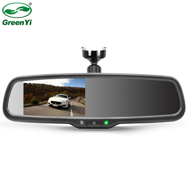 4.3 Inch TFT LCD Car Windscreen Rear View Mirror Monitor Mounting Bracket Monitor With 2CH Video Input For Parking Assistance